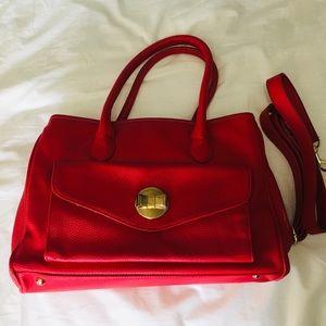 Lulu red shoulder bag